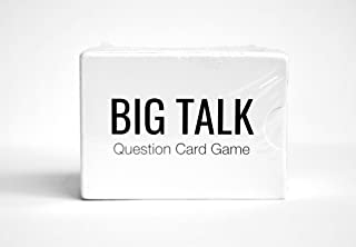 BIG TALK Question Card Game: Skip Small Talk, Make Meaningful Connections - Unique Conversation Starters, Fun Party Icebreaker Activity, Useful Networking, Educational, and Therapy Tool - 88 questions