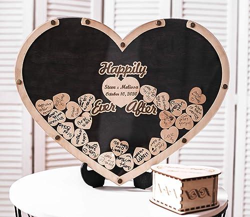 high quality Heart Drop Guest discount Book, Wedding Guest Book Alternative, Heart Frame Wedding Guest Book, Guest Book Sign, Rustic Wedding 2021 Decor, Wooden Drop Box online
