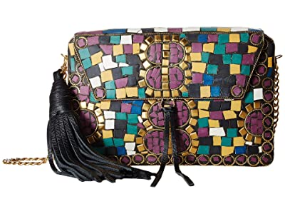 Sam Edelman Saskia Mosaic Box (Multi Gold) Clutch Handbags
