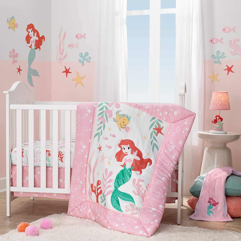 Lambs Ivy Ariel's Grotto Tulsa Mall Popular 3Piece Bedding Pink Set Crib