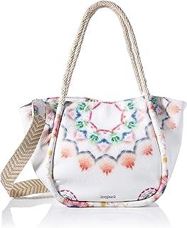 Desigual Womens PU Shoulder Bag, White, U