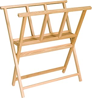 Creative Mark Folding Wood Large Print Rack - Perfect For Display of Canvas, Art, Prints, Panels, Posters, Art Gallery Shows, Storage Rack - [Beechwood Finish]