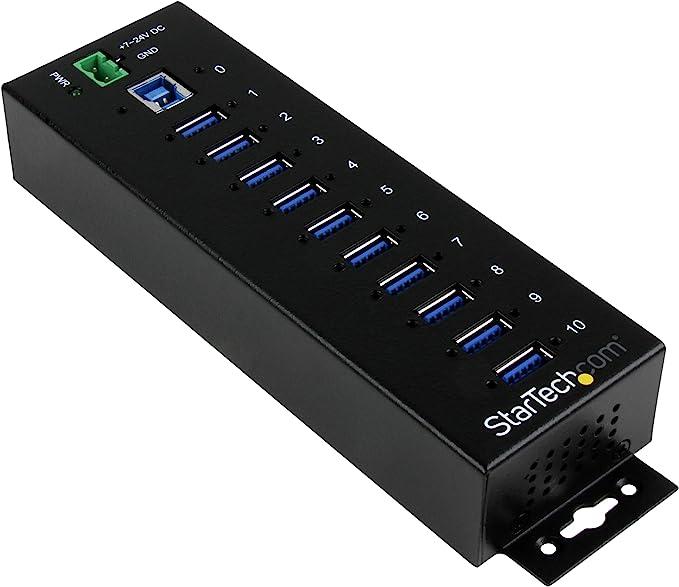 171 opinioni per StarTech.Com HUB Industriale USB 3.0 a 10 Porte, Perno e con centratore USB 3.0
