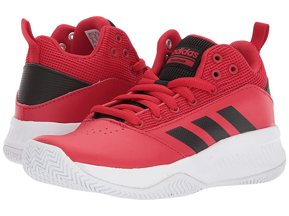adidas Kids Ilation Mid Basketball (Little Kid/Big Kid) (Scarlet/Black/White) Boys Shoes