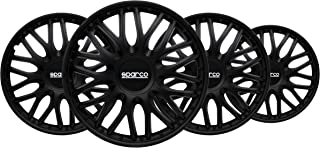comprar comparacion Sparco SPC1496BK Tapacubos Roma Negro, Set de 4, 14 Pulgadas