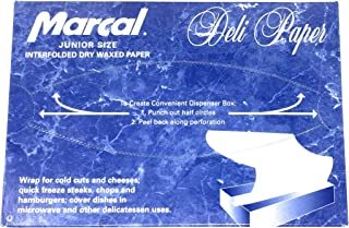 Deli Wrap Interfolded Wax Paper / Dry Waxed Food Liner Junior Size, 10