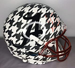 Nick Saban SIGNED Alabama Hydro Dipped Full Size Football Helmet w/COA - JSA Certified - Autographed College Helmets