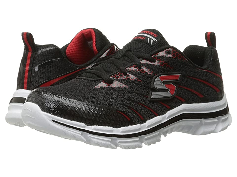 SKECHERS KIDS Nitrate 95340L (Little Kid/Big Kid) (Black/Red) Boy