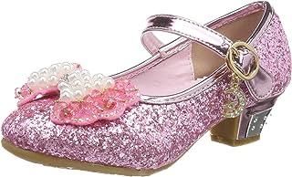 Tyidalin Niña Bailarina Zapatos de Tacón Disfraz de Princesa niña Princesa del Otoño de Las Lentejuelas de Prinavera para ...