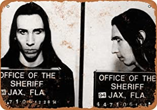 Wall-Color 7 x 10 Metal Sign - 1994 Marilyn Manson Mug Shot - Vintage Look