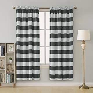 Best taupe and white striped curtains Reviews