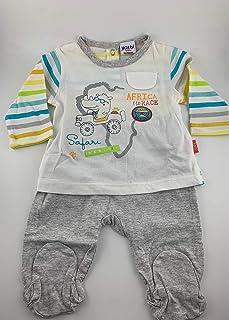 Yatsi 16109024- Conjunto dos piezas para tu Bebé. Recién Nacido. Color: Gris. Talla1 mes