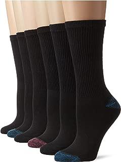 Women's Comfort Blend Crew Sock, 6 Pack