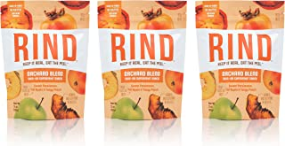 RIND Snacks Orchard Blend Sun-Dried Skin-On Superfruit Snack, Sweet Persimmon, Tart Apple, and Tangy Peach, High Fiber, No Sulfites, Antioxidants from Vitamin C, Gluten-Free, 3oz Pouch, Pack of 3