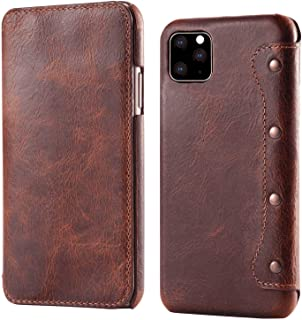 PU Leather Flip Cover Compatible with Samsung Galaxy S10 plus, brown Card Holders Extra-Shockproof Kickstand Wallet Case f...