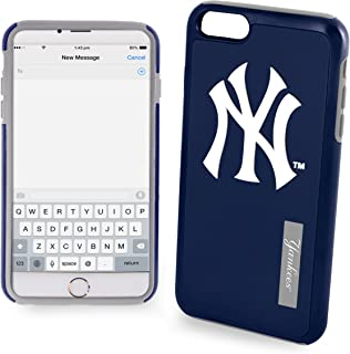 FOCO MLB New York Yankees Unisex iPhone 11 MAX Pro 6.5 Inch Screen Only Dual Hybrid Impact Licensed Case One Size Team Color