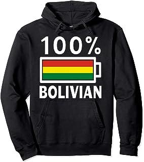 Bolivia Flag Hoodie   100% Bolivian Battery Power Tee
