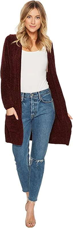 American Rose Skyler Pocketed Chenille Cardigan