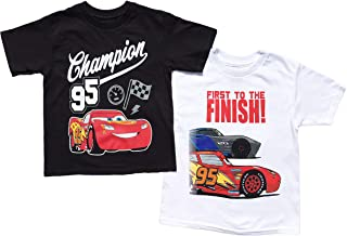 Disney Cars Little Boys Toddler 2 Pack T Shirt