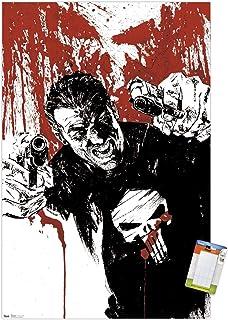 "Trends International Marvel Comics - The Punisher - Pistols Wall Poster, 22.375"" x 34"", Premium Poster & Mount Bundle"