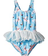 Rock Your Baby - White Unicorns Tulle One-Piece (Toddler/Little Kids/Big Kids)