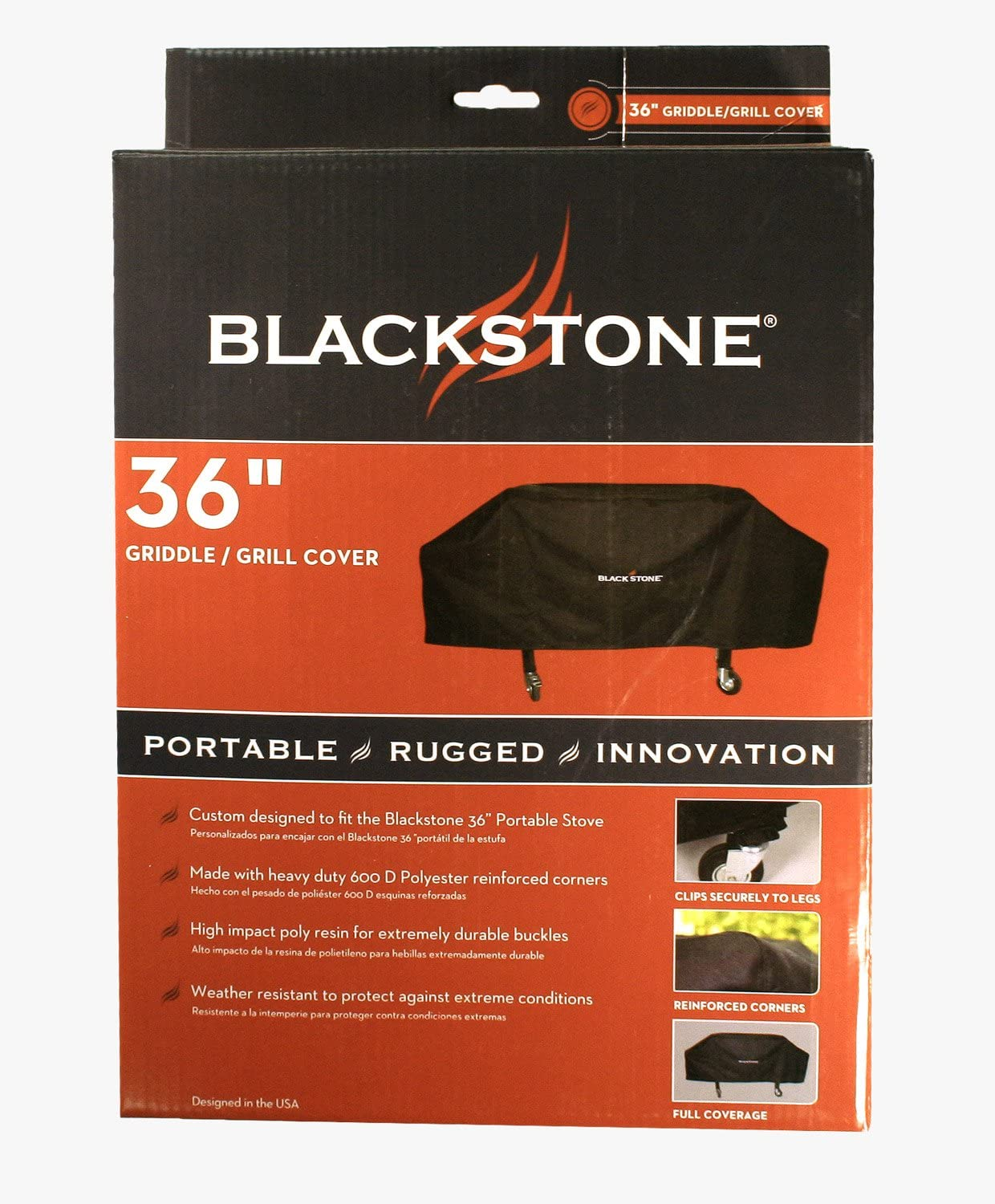 Blackstone 1528 600D Polyester Heavy Duty Flat top Gas Grill Cover, Water...