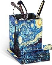 Fintie Eyeglasses Holder with Magnetic Base- Vegan Leather Phone Stand Desk Desktop Organizer (Starry Sky)