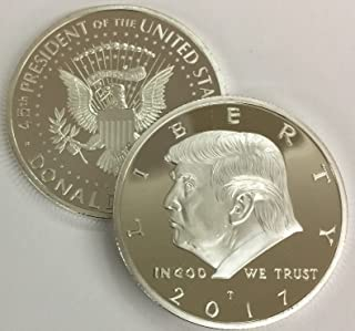 2017 President Donald Trump Inaugural Silver EAGLE Commemorative Novelty Coin 38mm. 45th President of the United States of...