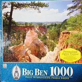 Vintage Big Ben 1000 Jigsaw Puzzle Providence Canyon State Park Lumpkin GA Georgia