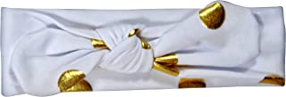 ES Kids Knot Headband - white with gold dot, White
