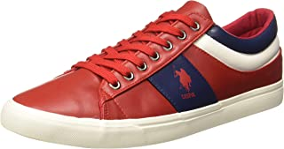 US Polo Association Men's Porter Leather Sneakers