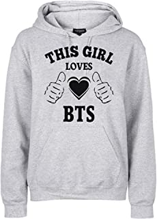 FMstyles This Girl Loves BTS Grey Unisex hoodies FMS362 - Small