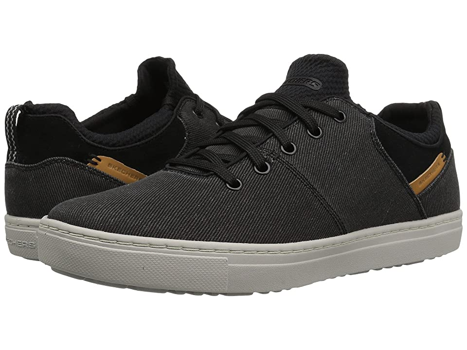 SKECHERS Classic Fit Alven Ravago (Black Canvas) Men