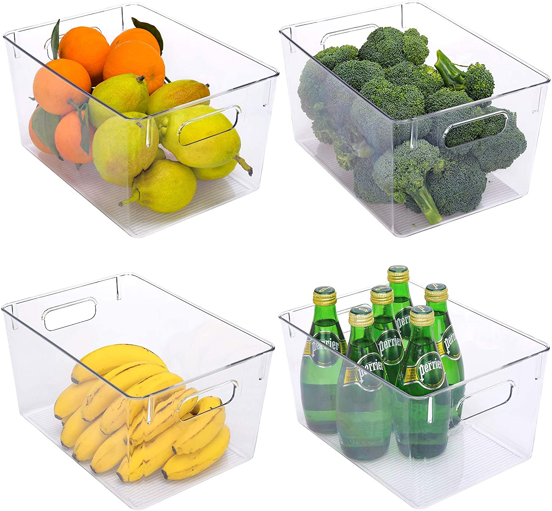 StorageWorks Large Ranking Max 87% OFF TOP5 Clear Plastic Food Storage Bins