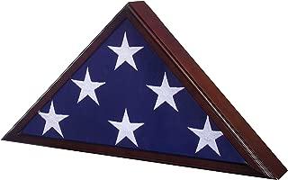 USMilitaryStuff Flag Case for American Veteran Burial Flag 5' x 9.5', Cherry Finish
