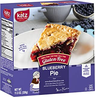 Katz Gluten Free Personal Size Blueberry Pie | Dairy Free, Nut Free, Soy Free, Gluten Free | Kosher (3 Packs of 1 Pie, 11....