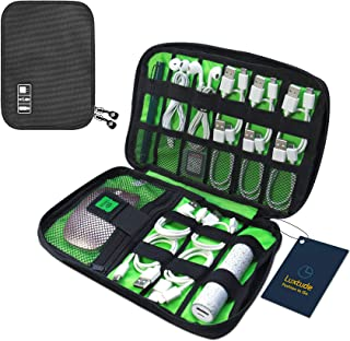 Luxtude Electronic Organizer, Compact Cable Organizer, Portable Cord Organizer, Travel Organizer Bag for Cable Storage, Co...