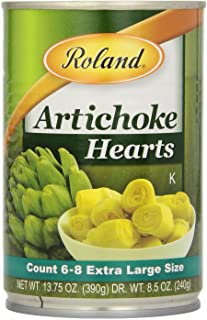 Roland Foods Whole Medium Artichoke Hearts, 6-8 Count, 13.75-Ounce Can