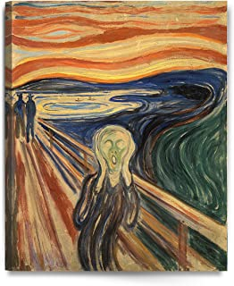 DECORARTS - The Scream by Edvard Munch, Giclee Print Canvas Art for Home Wall Decor. 16x20