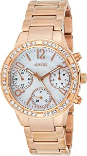 Guess Womens Quartz Watch, Analog Display and Stainless Steel Strap W0546L3