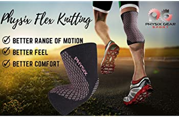 Physix Gear Knee Support Brace - Premium Recovery & Compression Sleeve For Meniscus Tear, ACL, MCL Running & Arthriti...