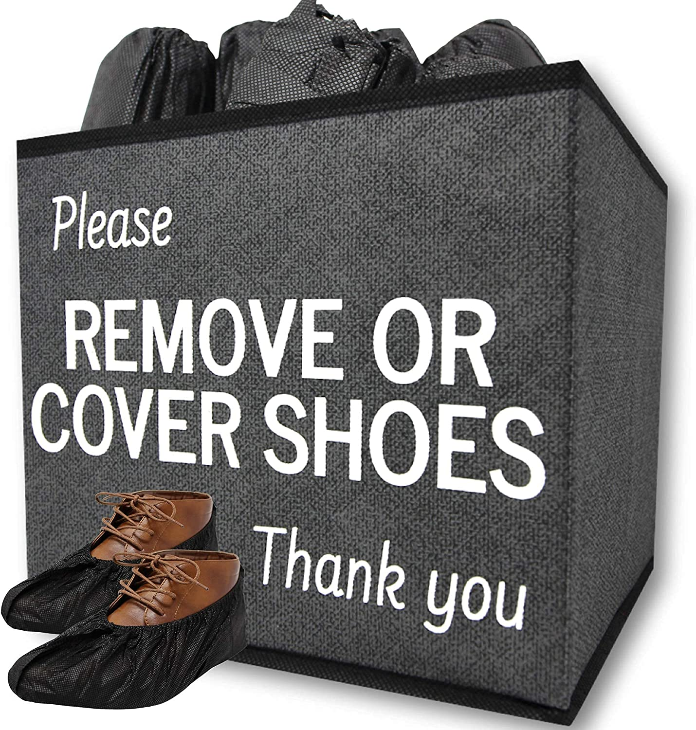 Max 74% OFF 100 Black Shoe Covers Box Popular products and