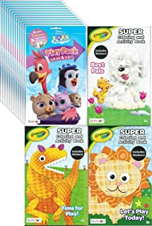Disney Junior T.O.T.S. Grab n Go Play Packs (12 Pack) Party Favors and 1 Assorted Crayola Coloring Book for your Birthday ...