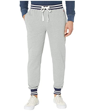Polo Ralph Lauren Brushed Fleece Jogger Pants (Andover Heather/Cruise Navy/Crescent Cream Tipping/Eaton Red) Men