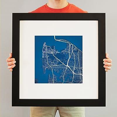 Gadsden State Campus Map.Amazon Com Washington State University Campus Map Art 14 Gallery