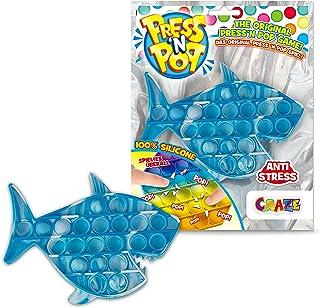 CRAZE Press N POP Fidget Toy sensoryczna zabawka antystresowa dla dzieci i dorosłych, sensory Squeeze Bubble unisex, motyw...