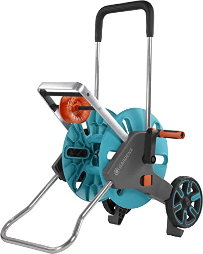 GARDENA Dévidoir CleverRoll M Easy : Enrouleur de tuyaux sur roues d'une capacité de 60 m, particulièrement stable, A...