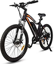 ECOTRIC Mountain EBike Electric Bicycle Black Bike 26