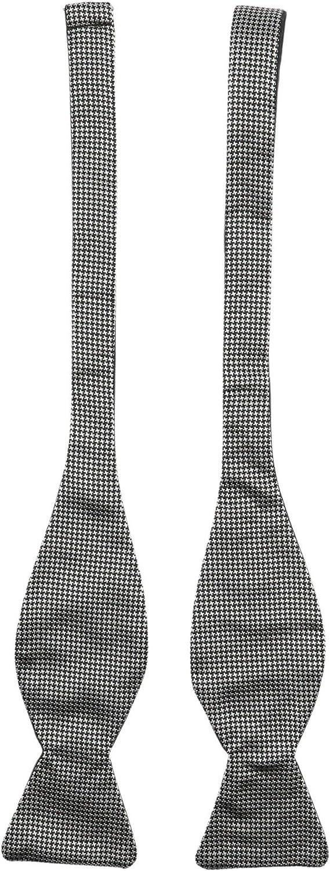 Dion Men's Mini Houndstooth Silk Bow Tie