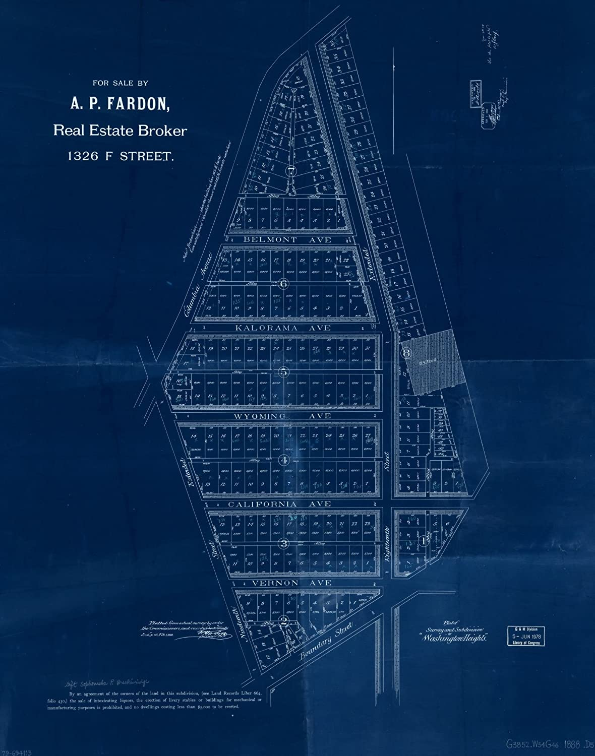 Vintography 25% OFF 18 x 24 Blueprint Old Style 1888Plat Map Colorado Springs Mall Reproduced